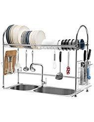 iPEGTOP Estante para secar platos sobre el fregadero,...