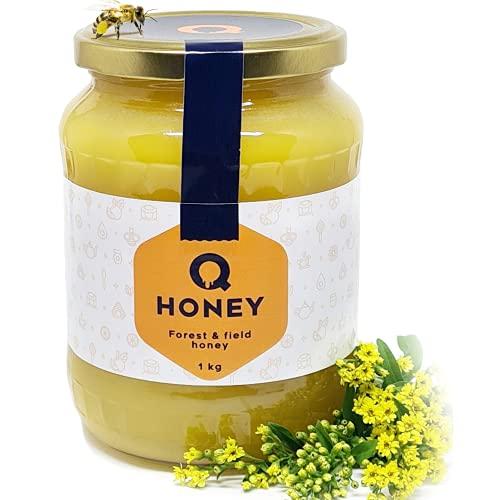 Q-Honey Miel de Abeja Pura, Miel Cruda, 100 % Miel Pura...