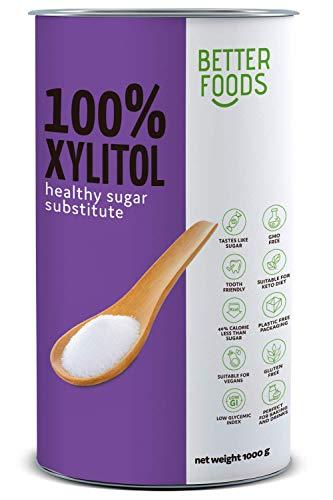 Better Foods Edulcorante natural Xilitol 1Kg   Sustituto de...