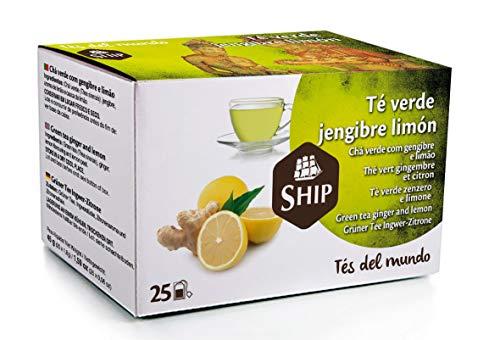 Ship - Té Verde de Jengibre y Limón en Caja de 25 Unidades...