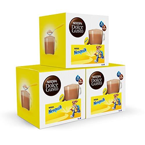 Nescafé DOLCE GUSTO Cacao NESQUIK - Pack de 3 x 16...