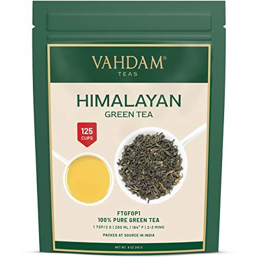 Hojas de té verde de Himalaya (más de 100+ tazas), hojas...
