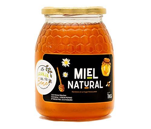 Miel de Abeja Pura, Miel de Mil Flores Natural de 1 Kg - 100...