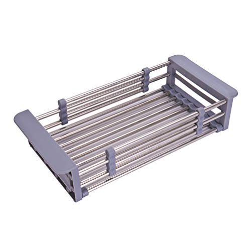 Estante de secado de platos extensible y soporte para...
