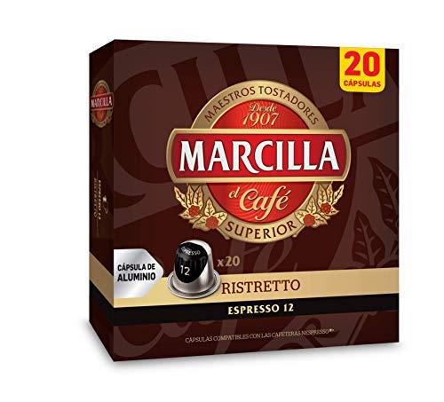 Marcilla Café Ristretto - 200 cápsulas compatibles con...