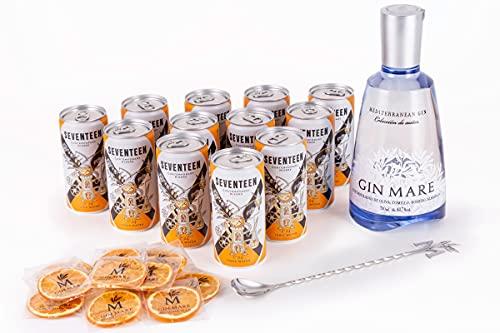 Gin Mare Home Bar Pack de Ginebra Premium con 12 Tónicas...