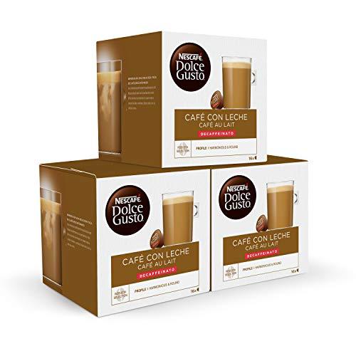 Nescafé DOLCE GUSTO CAFÉ CON LECHE DESCAFEINADO - Pack de...