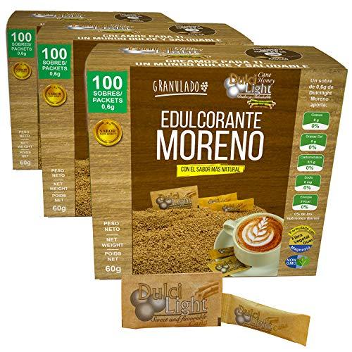 EDULCORANTE MORENO DULCILIGHT 300 sobres |3 ENVASES DE 100|...