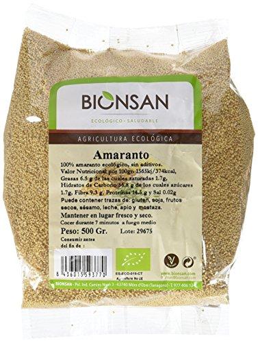 Bionsan Amaranto Ecológico en Grano   6 Bolsas de 500 gr  ...