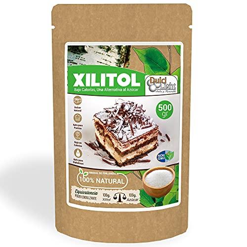DULCILIGHT Xilitol Edulcorante 100% Natural 500 gr Origen de...