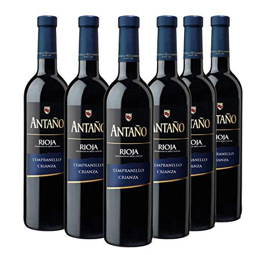 Antaño Crianza - Vino Tinto D.O Rioja - Pack de 6 Botellas...