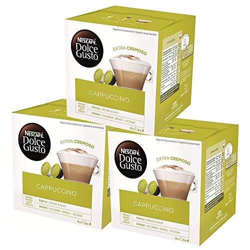 Nescafé Dolce Gusto Café Cappuccino, Pack de 3 x 16...