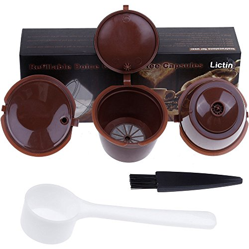 Lictin 3 Pack Cápsulas Filtros de Café Recargable...