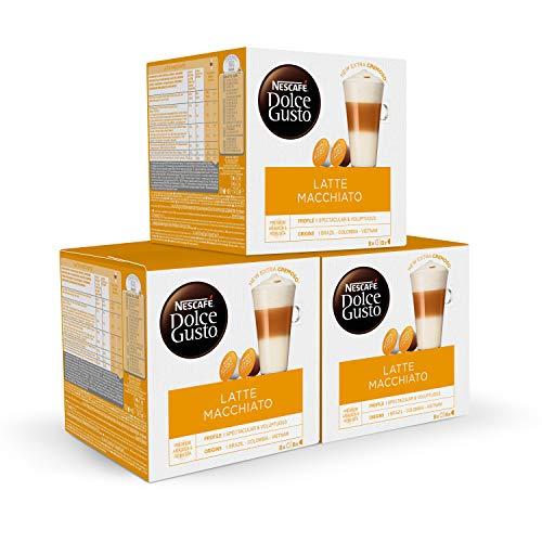 Nescafé DOLCE GUSTO Café LATTE MACHIATTO - Pack De 3 x 16...