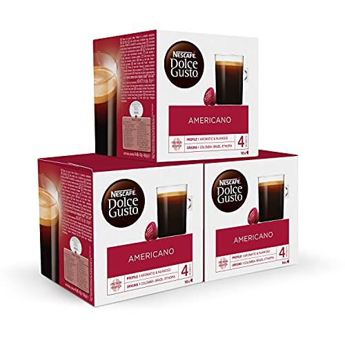 Nescafé DOLCE GUSTO Café AMERICANO - Pack de 3 x 16...