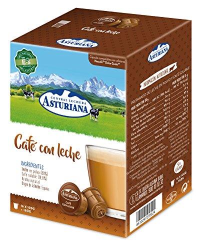 Central Lechera Asturiana Cápsulas de Café con Leche, 4 x...