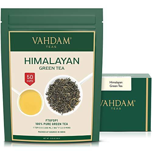 VAHDAM, Hojas de Té Verde del Himalaya (50 Tazas)   100%...